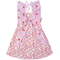 Always Kids Girl's Multi Heart Butterfly Printed Dress