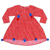 Always Kids Girl's Red Heart Harlow Printed Dress