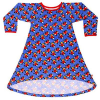 Always Kids Girl's Blue Kensington Mabel Printed Dress