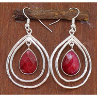 Indian Ruby Faceted  ...