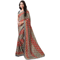 Indian Ethnic Grey Color Printed  Turkey Silk Festive Wear  Saree