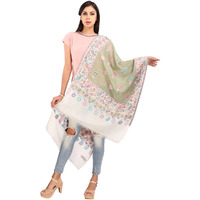 Spring Blossom Pure Wool Stole - 01