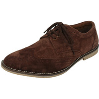 Genuine Suede Leather Brouge Casual Shoes -Tan