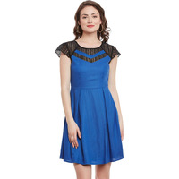Blue Skater Dress Wi ...