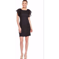 Black Casual Dress In Solid