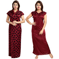 Fashion Satin Maroon ...