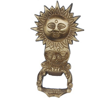 Aakrati - Bottle Opener Brass Hand Crafted Sun Shaped God | Indian Religious Idol | Sun God Shaped | Unique Bar Accessories | Theme Opener