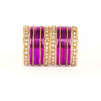 Purple Kundan Gold s ...
