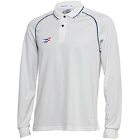 Sportiff Cover Drive Full Sleeves Cricket Shirt With Polo Neck (Size: 70)