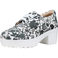 Jhamb's Nappa Leather White Floral Multi PrintPlatform Boots for Women & Girls
