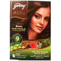 Godrej Abha Henna Natural Brown 9 Herbs - 10 Gm (6 Sachets)
