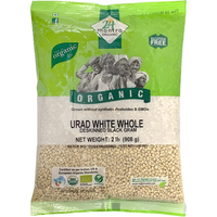 24 Mantra Organic Urad White Whole - 2 Lb