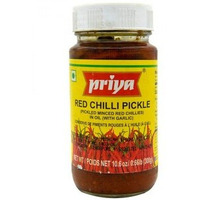 Priya Red Chilli Pickle With Garlic - 300 Gm