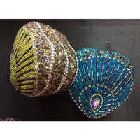 Peacock Plume Trinket Boxes (4 pcs)