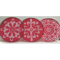 DIY 10'' Rangoli Stencil Set for Diwali Rangoli Designs - 3 pcs