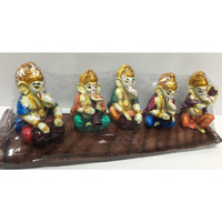 5 Lord Ganesha Idols Playing Different Instruments