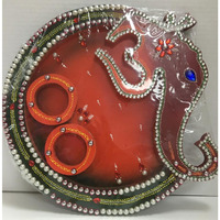 OM and Ganesh Shape Pooja Thali 13