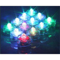 Bright Waterproof Color Changing Flameless LED Tealight Candles 4 Pcs Diya