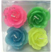 Floating Roses Candles 4 Pcs