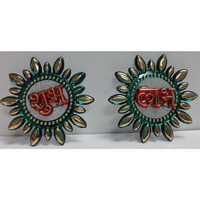 Round Subh Labh Kalash Stickers 3
