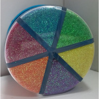 Rangoli Color Glitter Powder 2 Pack 12 colors