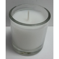 6 pack 4'' Unscented Candle with glass holder