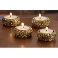 Set of 4 Hand-Beaded ...
