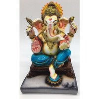 7   Hindu Lord Ganesh Statue on Sinhasan