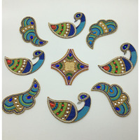 Peacock Handbeaded Rangoli / Wall Decoration