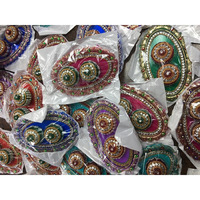 Oval Decorated Pooja / Haldi-Kumkum Thali Return Gift w/ Katori
