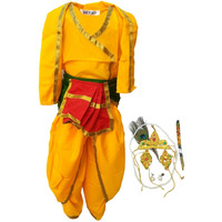 KFD Bal Krishna fancy dress for kids,Krishna leela/Janmashtami/Kanha/Mythological Character for Annual function/Theme Party/Competition/Stage Shows Dress