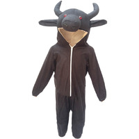 KFD Buffalo fancy dress for kids,Farm Animal Costume for School Annual function/Theme Party/Competition/Stage Shows Dress
