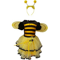 KFD Bumbel Bee Girl fancy dress for kids,Insect Costume for Annual function/Theme Party/Competition/Stage Shows Dress