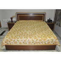 Handmade Cotton Block Printed Bedspreads House Warming Bedding Bedsheet Cover
