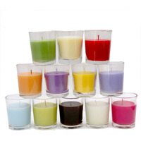 Aura 12 Fragrances Scented Shots Glass Candle Pack of 12 Units|12 Different Fragrances| Burn Time - 15-16 Hrs Each