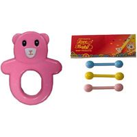 Auto Flow Rattle Toy - Guddu Toy - BT24 Combo Pink