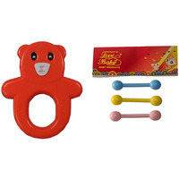 Auto Flow Rattle Toy - Guddu Toy - BT24 Combo Red
