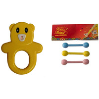 Auto Flow Rattle Toy - Guddu Toy - BT24 Combo Yellow