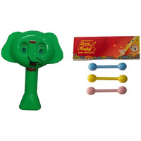 Auto Flow Rattle Toy- Elephant Toy - BT25 Combo Green