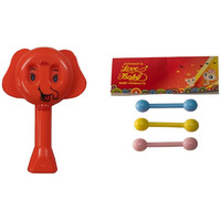 Auto Flow Rattle Toy- Elephant Toy - BT25 Combo Red