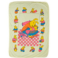 Love Baby Bath Towel Cartoon Printed - 1907 Yellow