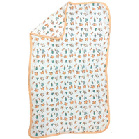 Love Baby Bath Towel Cotton Printed With Hood - 1910 Peach