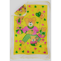 Love Baby Bath Towel Cotton Printed With Hood - 1911 P1 Yellow