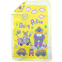 Love Baby Bath Towel Cotton Printed With Hood - 1911 P3 Yellow