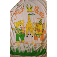 Love Baby Bath Towel Cotton Super Fine Printed With Hood - 1911 P1 Peach