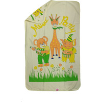 Love Baby Bath Towel Cotton Printed With Hood - 1915 Yellow
