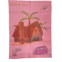 Quick Dry Bed Protector Printed - 626 M Pink