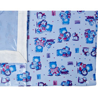 Love Baby Soft Bed Sheet Plastic - 613 A Blue