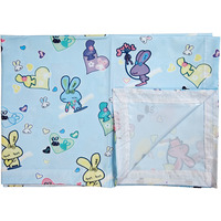Love Baby Soft Bed Sheet Plastic - 713 C Blue