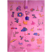 Quick Dry Bed Protector Printed - 619 S Pink